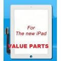 iPad 3 touch screen with adhesive tape [White]